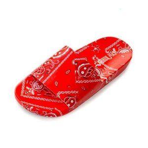 !! NEW !! Red Bandana Print Slides